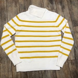English Factory Mustard Striped Chenille Sweater